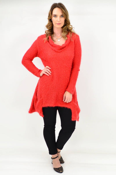 Rust Katherine Wool Mix Tunic
