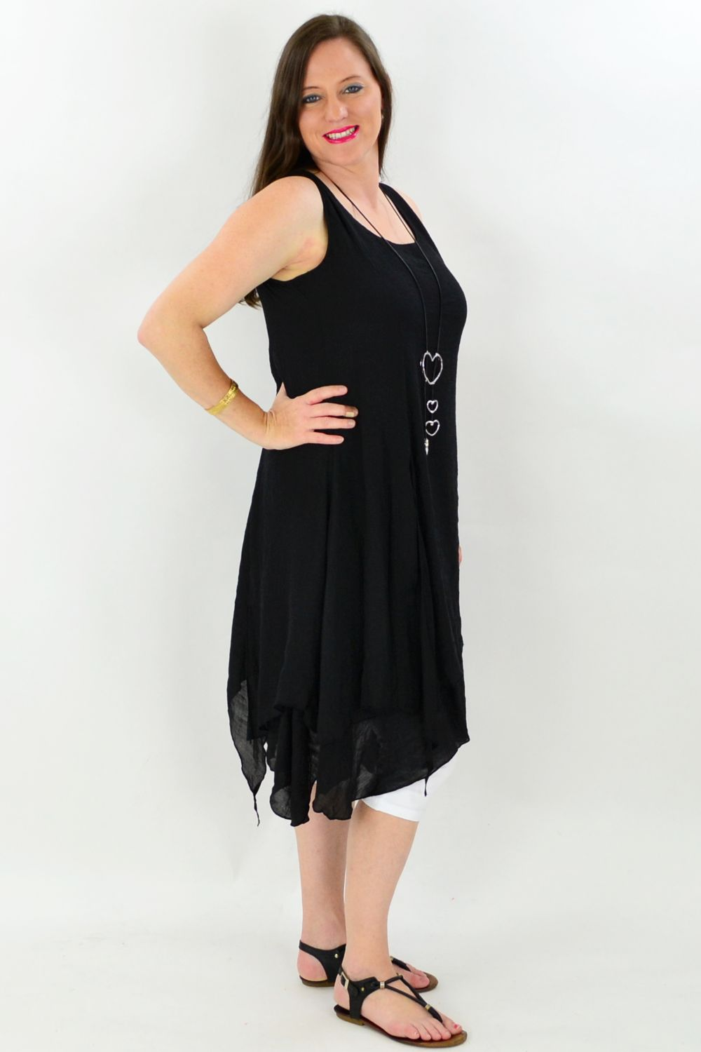 Black Maui Tunic Dress | I Love Tunics | Tunic Tops | Tunic Dresses | Women's Tops | Plus Size Australia | Mature Fashion