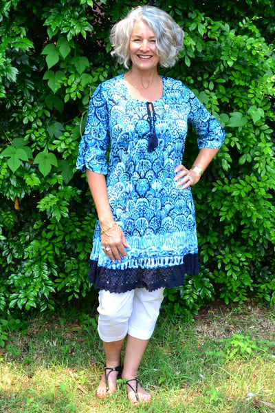 Flower Tree Tunic - at I Love Tunics @ www.ilovetunics.com = Number One! Tunics Destination