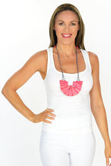 Pink Triangle Necklace - at I Love Tunics @ www.ilovetunics.com = Number One! Tunics Destination
