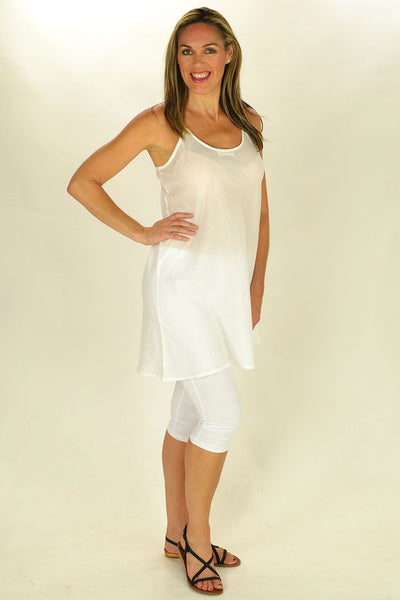 Cotton White Slip - at I Love Tunics @ www.ilovetunics.com = Number One! Tunics Destination
