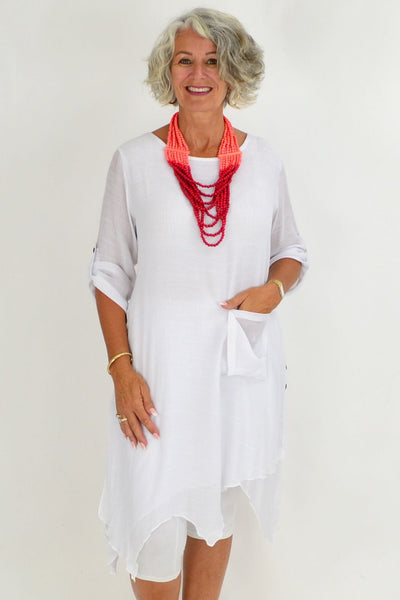 white ladies tops summer cotton