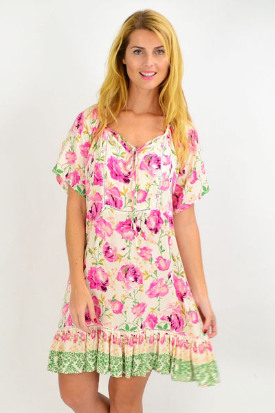 Pink Rose Flowy Tunic Dress | I Love Tunics | Tunic Tops | Tunic | Tunic Dresses  | womens clothing online