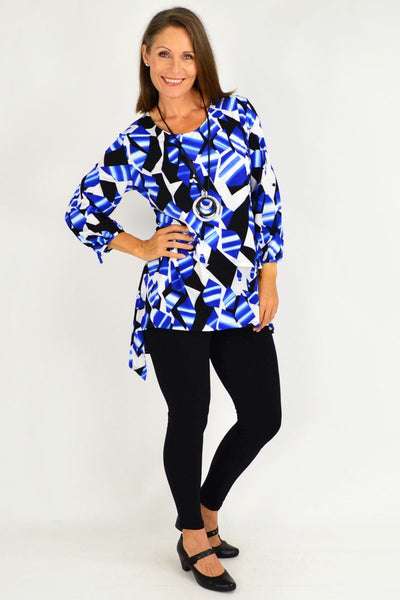 Blue Helena Tunic Top