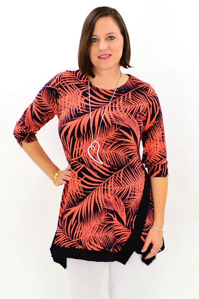 Orange Safari Tunic Top