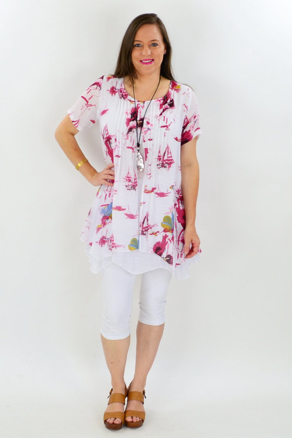 Red Sail Boat Tunic - at I Love Tunics @ www.ilovetunics.com = Number One! Tunics Destination