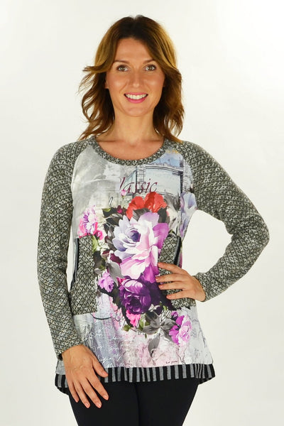 Grey Linda Winter Tunic - at I Love Tunics @ www.ilovetunics.com = Number One! Tunics Destination