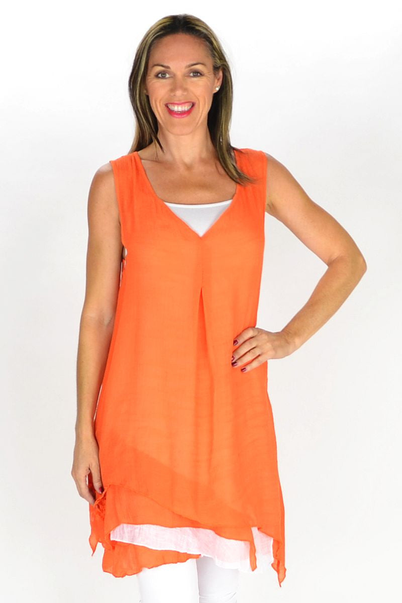 Orange 2 in 1 Tunic - at I Love Tunics @ www.ilovetunics.com = Number One! Tunics Destination