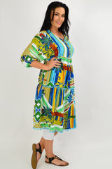 Malaga Midi Boho Tunic Dress - I Love Tunics