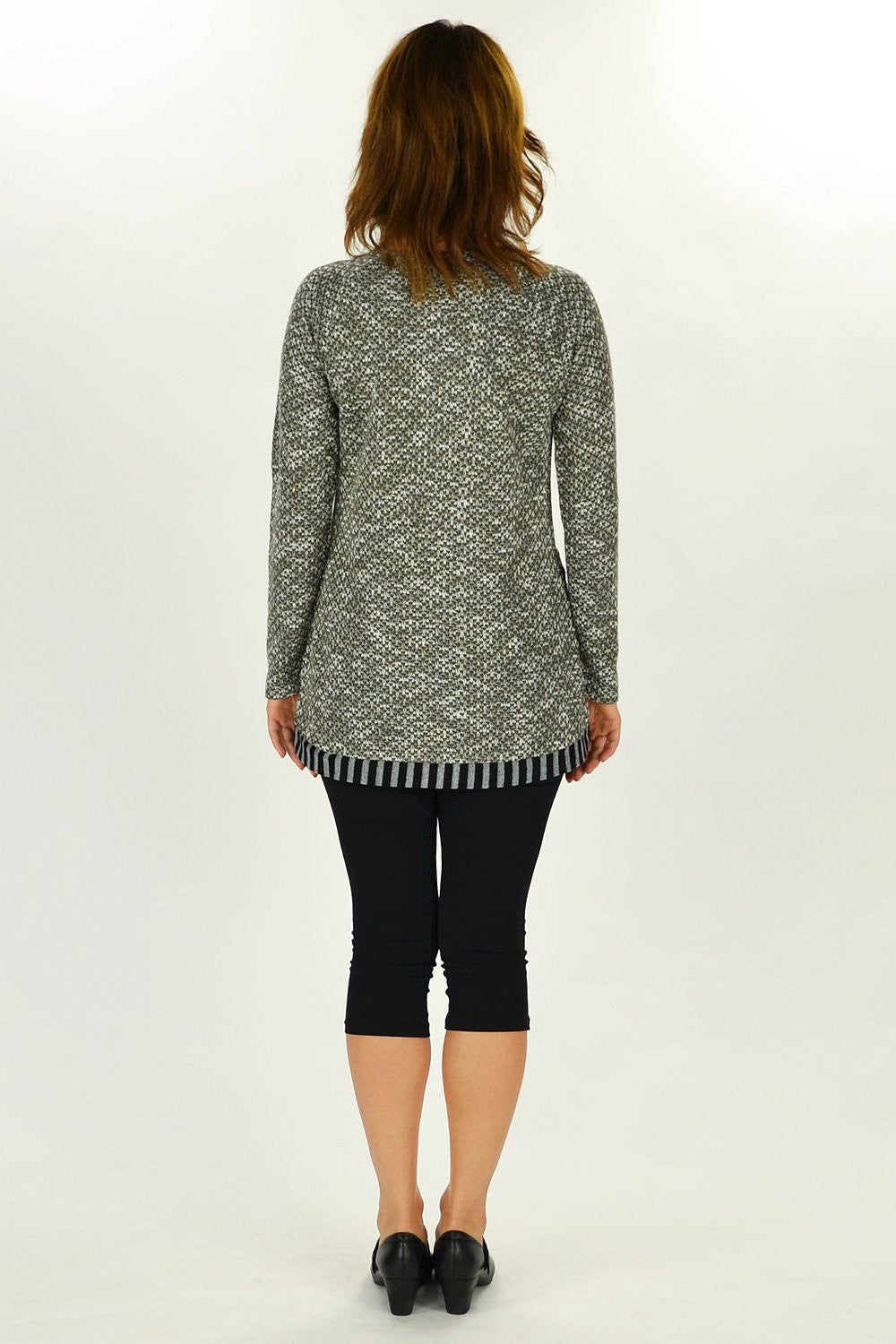 Grey Linda Winter Knit Tunic | I Love Tunics | Tunic Tops | Tunic | Tunic Dresses  | womens clothing online