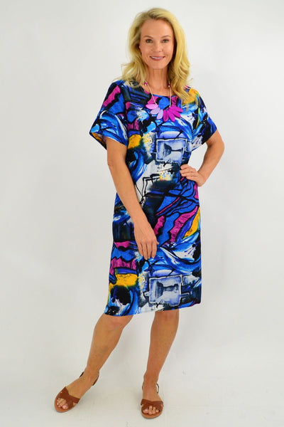 Ocean Swirl Tunic Dress - I Love Tunics