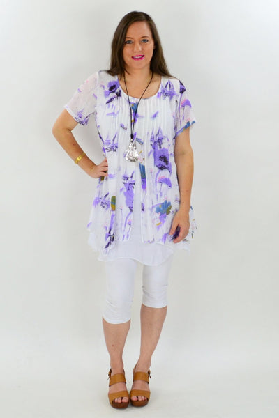 Purple Sail Boat Tunic