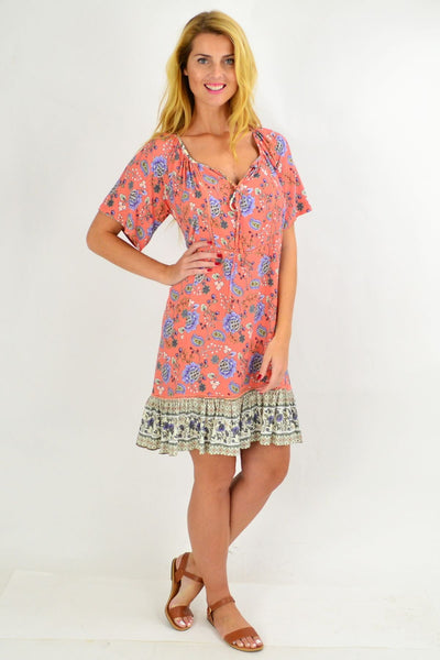 Pink Paisley Flowy Tunic Dress | I Love Tunics | Tunic Tops | Tunic | Tunic Dresses  | womens clothing online