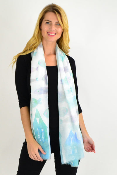 Aqua Fishes Scarf