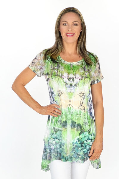 Green Frenchy Penny Tunic - at I Love Tunics @ www.ilovetunics.com = Number One! Tunics Destination