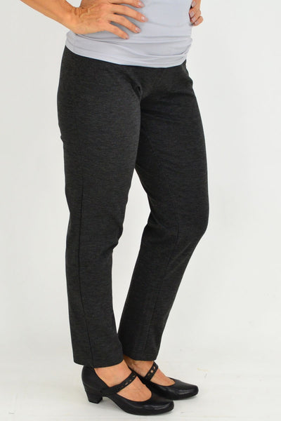 Long Winter Weight Charcoal Leggings