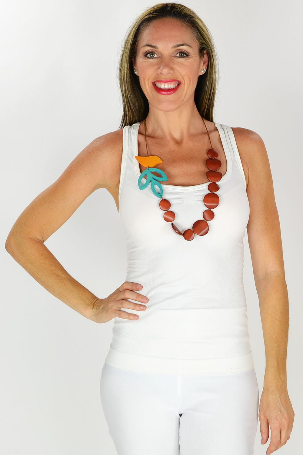 Orange Bird Necklace - at I Love Tunics @ www.ilovetunics.com = Number One! Tunics Destination