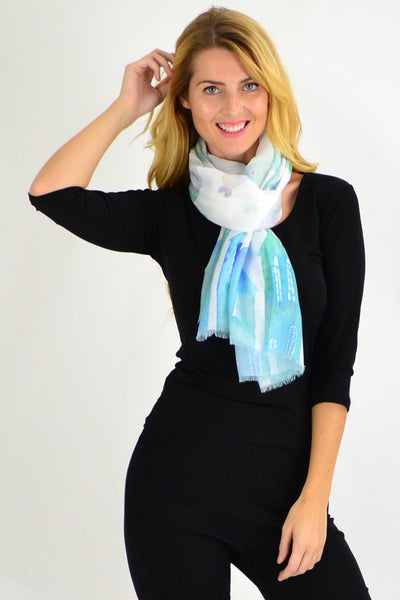 Aqua Fishes Scarf - I Love Tunics