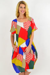 Colourful Patch Pattern Tunic Dress | I Love Tunics | Tunic Tops | Tunic | Tunic Dresses  | womens clothing online