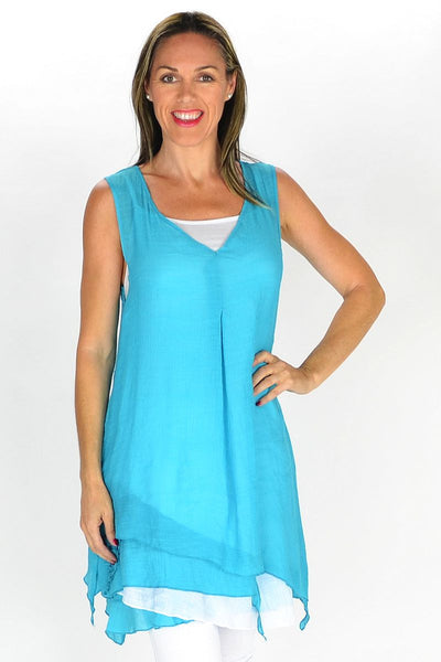 Aqua 2 in 1 Tunic - at I Love Tunics @ www.ilovetunics.com = Number One! Tunics Destination