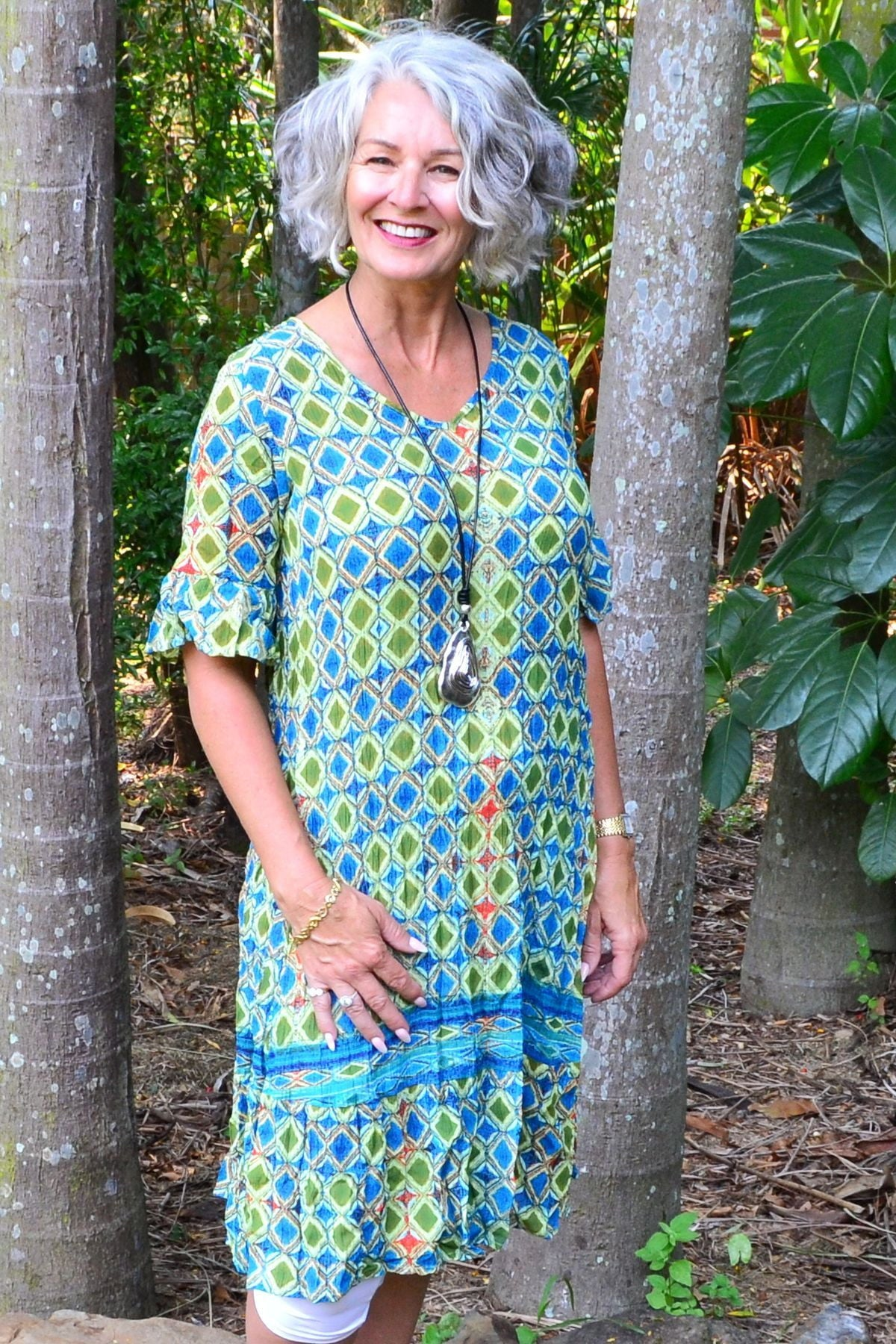 Maui Blue Green Tunic Dress | I Love Tunics | Tunic Tops | Tunic | Tunic Dresses  | womens clothing online