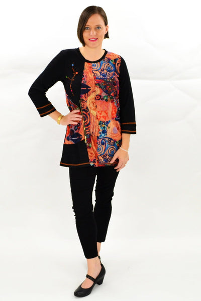 Orange Elisa Tunic Top