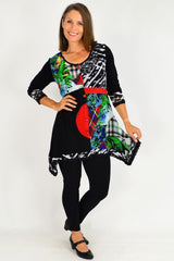 Sonya Patch Button Up Tunic Top | I Love Tunics | Tunic Tops | Tunic | Tunic Dresses  | womens clothing online