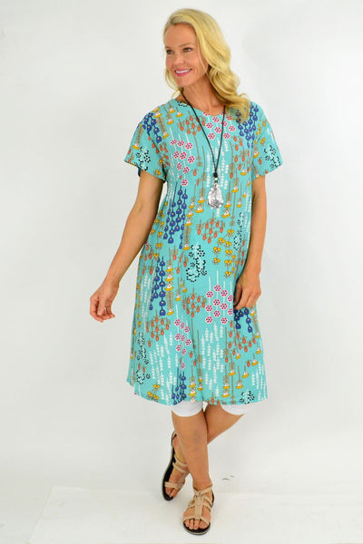 Aqua Berry Tunic Dress