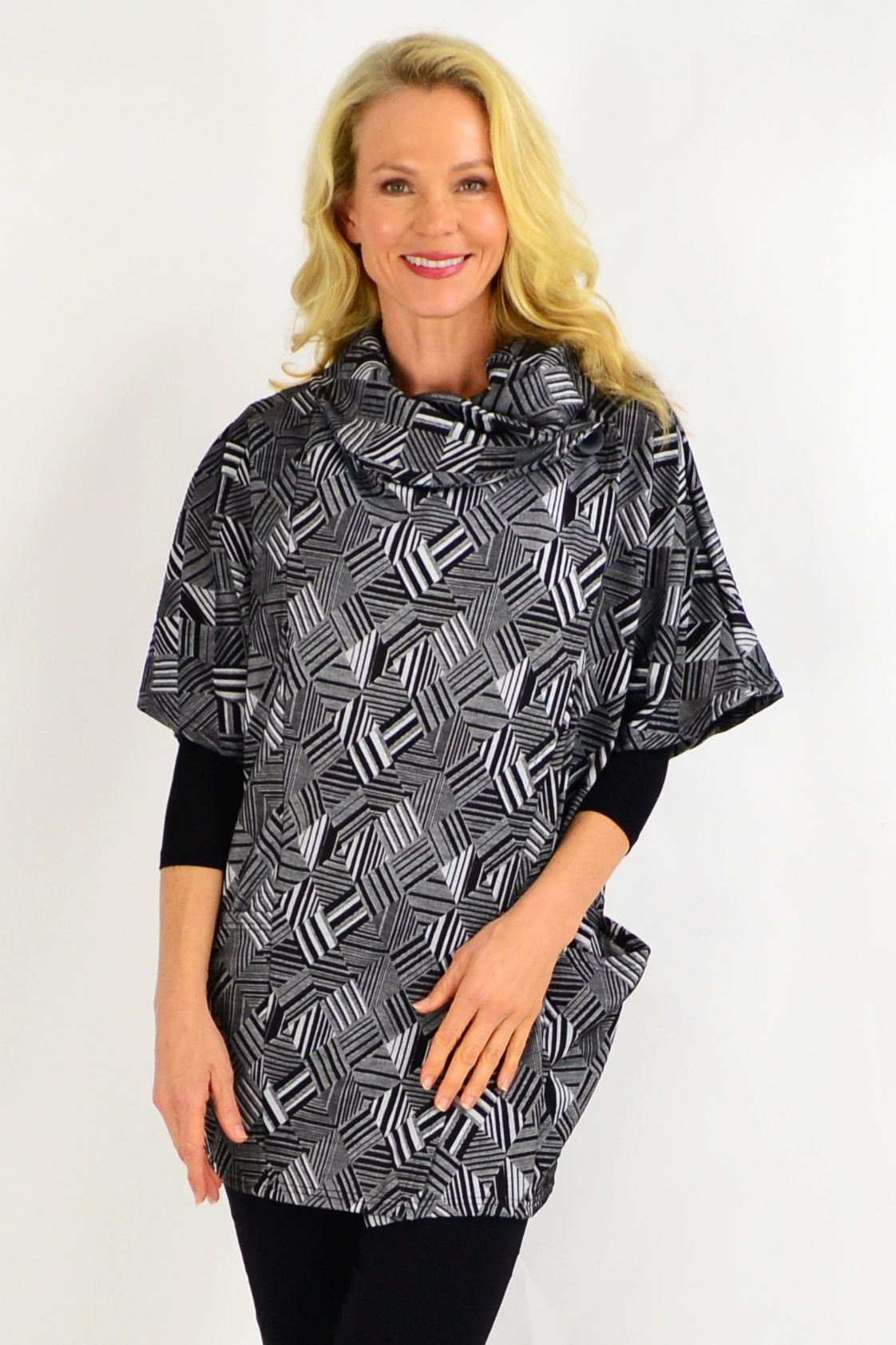 Black Stripe Diamond Tunic Top | I Love Tunics | Tunic Tops | Tunic | Tunic Dresses  | womens clothing online