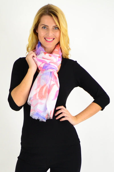 Purple Pink Hibiscus Flower Scarf - I Love Tunics