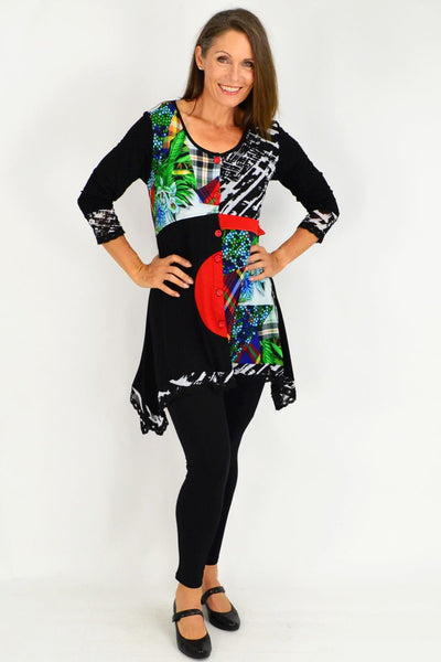 Sonya Patch Button Up Tunic Top