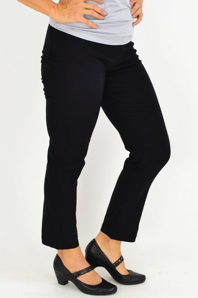 Black Straight Leg High Waisted Pants