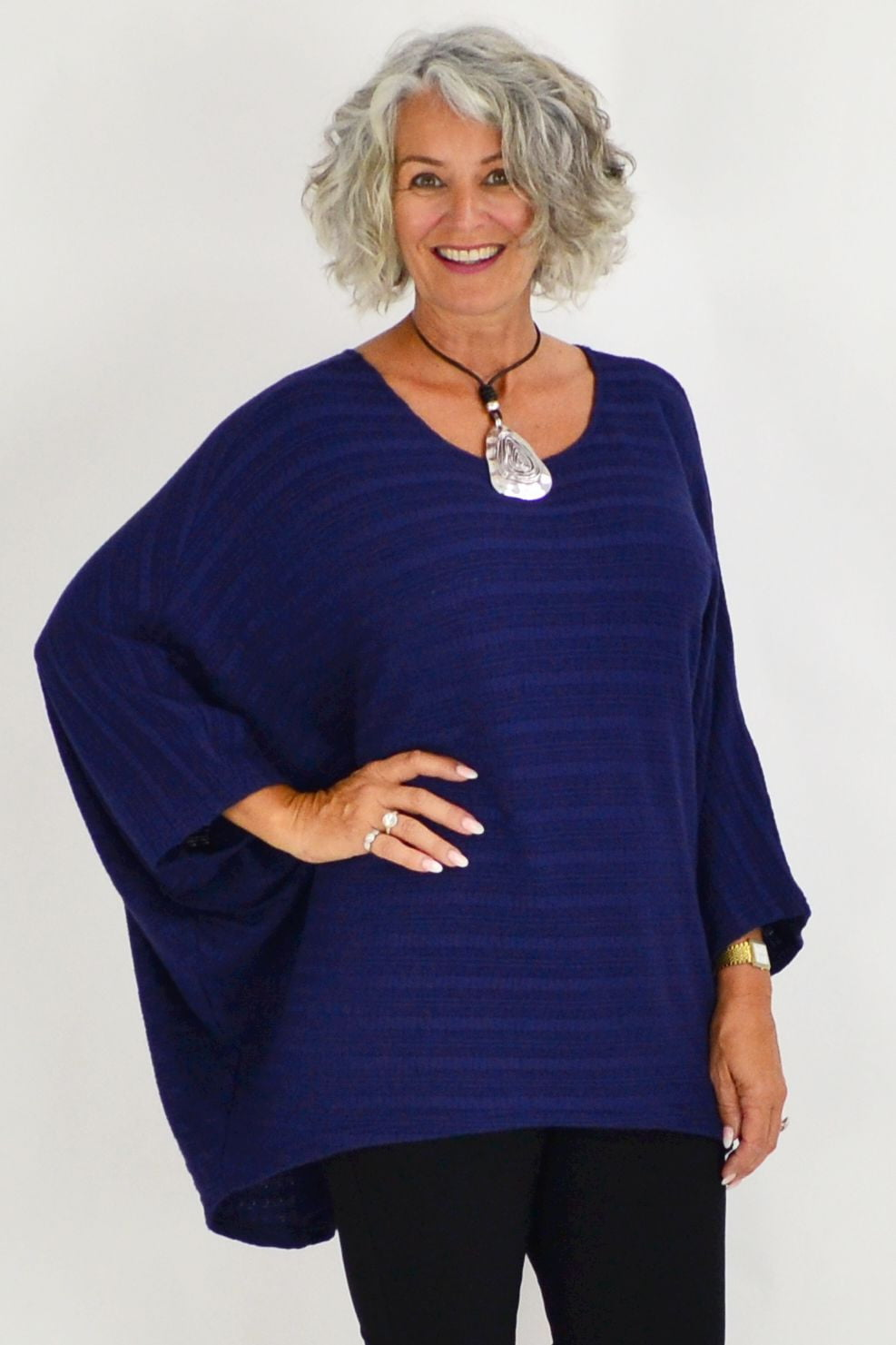 Blue Sparrow Feather Tunic - at I Love Tunics @ www.ilovetunics.com = Number One! Tunics Destination