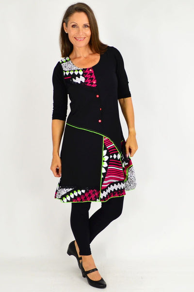 Pink Sparrow Feather Tunic