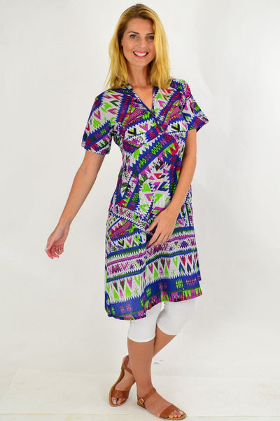 Multicolour Aztec Tunic Dress | I Love Tunics | Tunic Tops | Tunic | Tunic Dresses  | womens clothing online