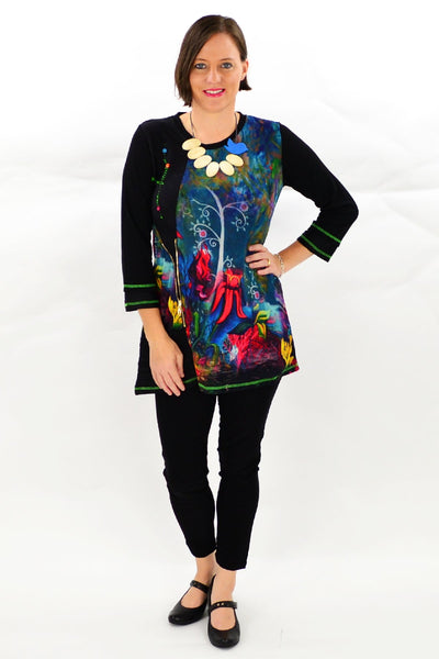 Floral Elisa Tunic Top