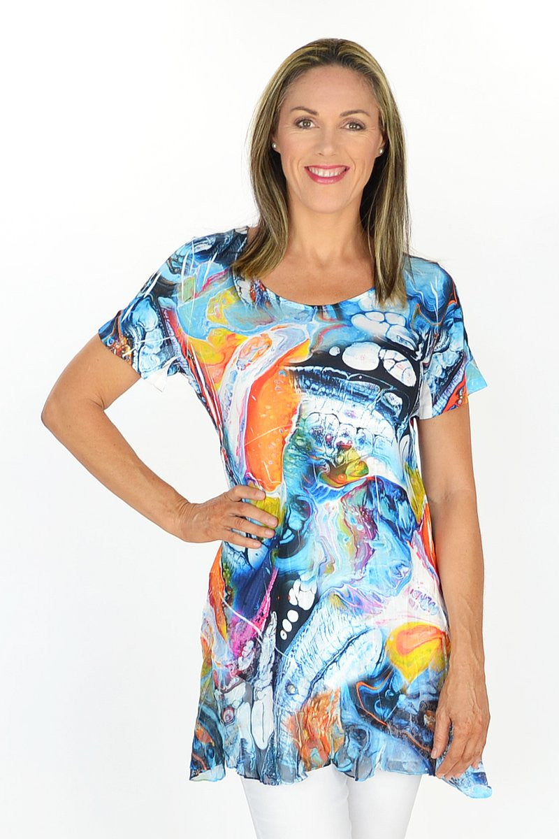 Great Barrier Reef Tunic - at I Love Tunics @ www.ilovetunics.com = Number One! Tunics Destination