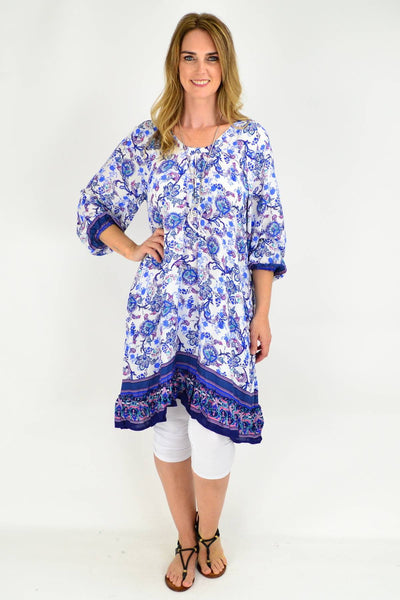 Blue Tammy Tunic Dress