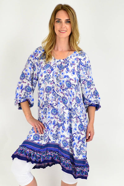 Blue Tammy Tunic Dress | I Love Tunics | Tunic Tops | Tunic | Tunic Dresses  | womens clothing online
