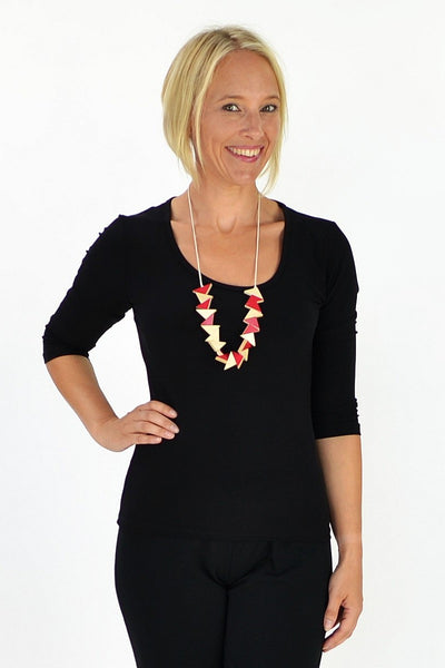 Black 3/4 Sleeve Tunic - at I Love Tunics @ www.ilovetunics.com = Number One! Tunics Destination