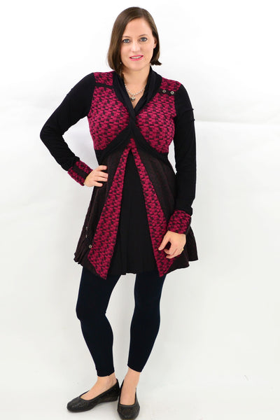 Red Ava Winter Tunic Top