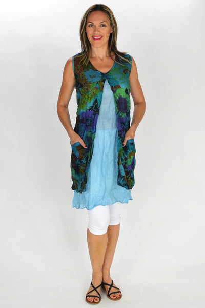 Aqua Blue Anne-Louise Tunic