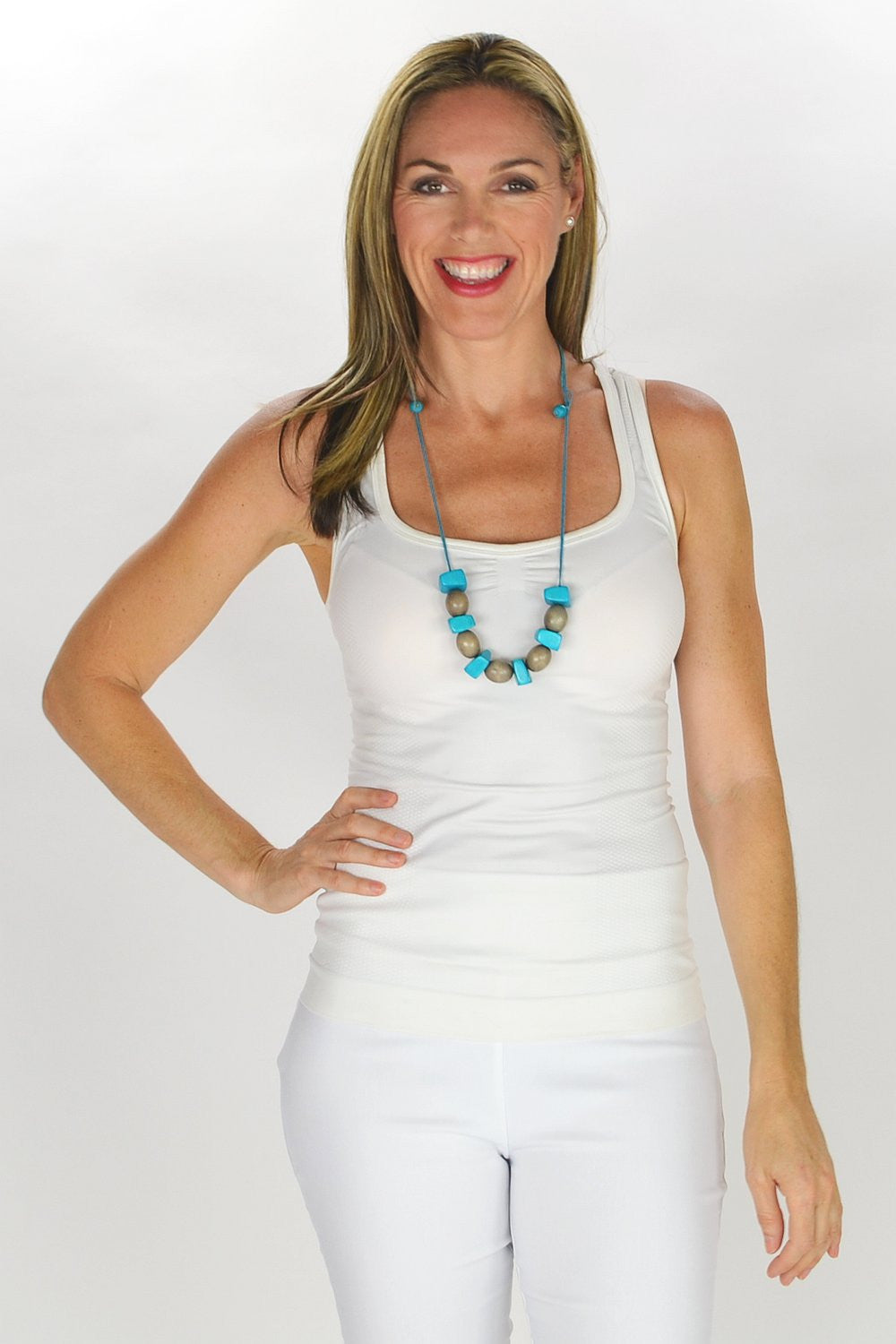 Blue Olive Beads Necklace | I Love Tunics | Tunic Tops | Tunic | Tunic Dresses  | womens clothing online