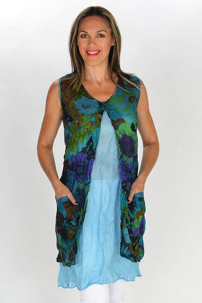 Aqua Blue Anne-Louise Tunic - at I Love Tunics @ www.ilovetunics.com = Number One! Tunics Destination