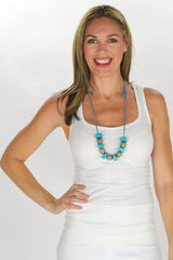 Blue Olive Beads Necklace - at I Love Tunics @ www.ilovetunics.com = Number One! Tunics Destination