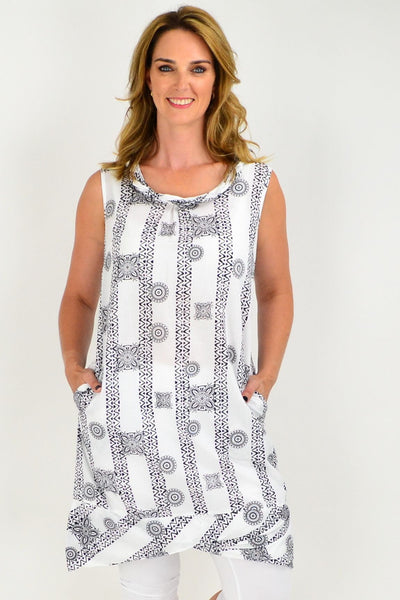 Orientique Abbruzzo Black White Tunic Dress | I Love Tunics | Tunic Tops | Tunic | Tunic Dresses  | womens clothing online