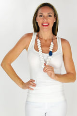 Blue Stone Necklace - at I Love Tunics @ www.ilovetunics.com = Number One! Tunics Destination