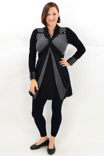Grey Ava Winter Tunic Top