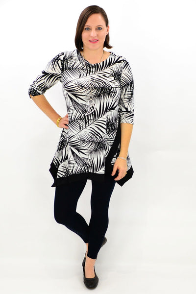 White Safari Tunic Top