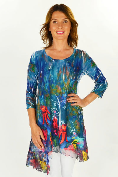 Sturts Desert Pea Tunic - at I Love Tunics @ www.ilovetunics.com = Number One! Tunics Destination